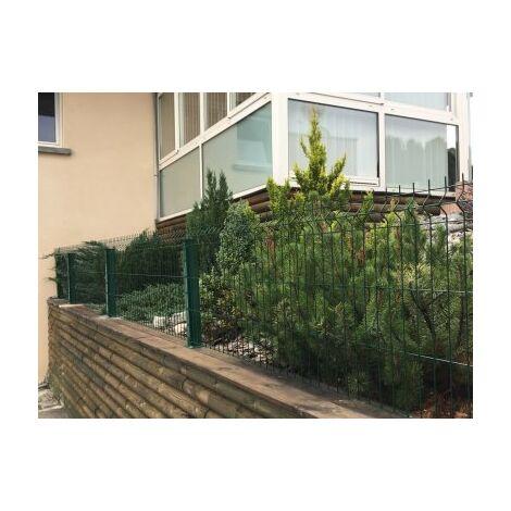 Kit Grillage Rigide Vert 10M - JARDIPREMIUM+ - Fil 4/5mm - Sur Platines - 1,23 mètre