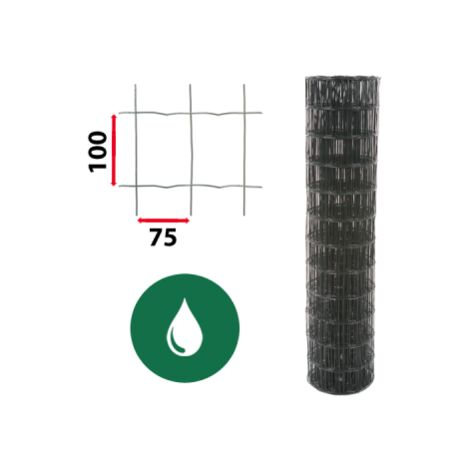 Kit Grillage Soudé Vert 25M - JARDIMALIN - Maille 100x75mm - 1,50 mètre