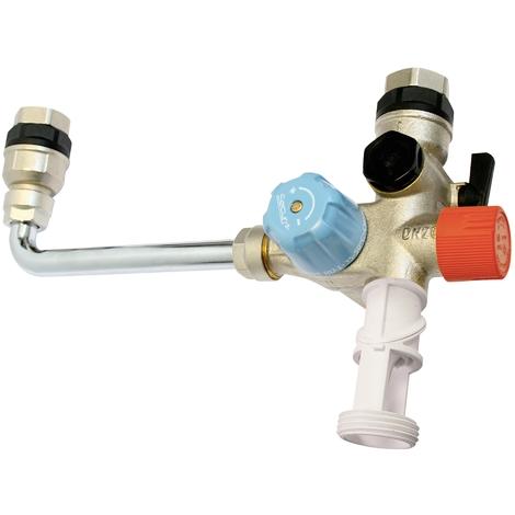 Kit groupe de sécurité SECUR3 INOX orientable chauffe-eau et limiteur température