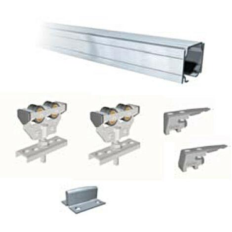 Kit guia Corredera Aluminio Profesional Sf-E75 - Saheco - 675/20 - 2 Metros