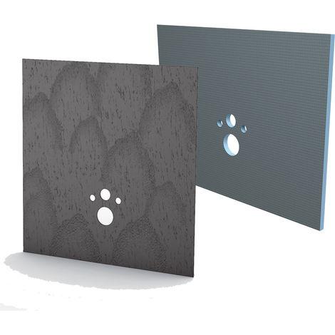 Kit habillage+finition Bâti-support Wedi I-Board concrete gris