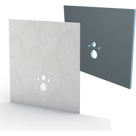 Kit habillage+finition Bâti-support Wedi I-Board stone gris