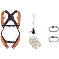 Kit harnais sécurité toiture + 1 stop chute 10m Delta Plus