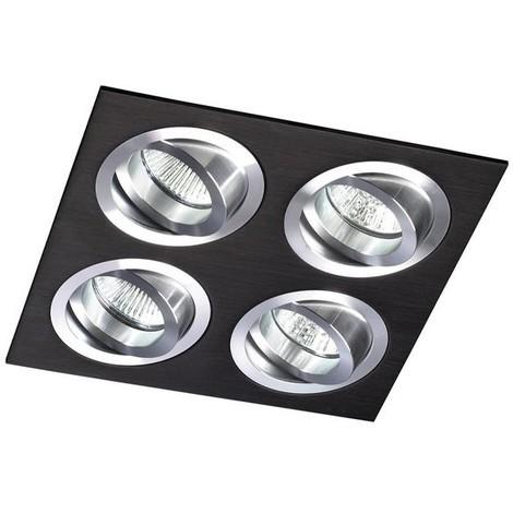 Kit Helium cuadrado negro (4 luces)