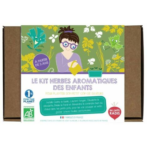 Kit herbes aromatiques des enfants