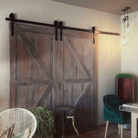 Kit herrajes rústicos para puerta corredera. 100 kg - varias tallas disponibles
