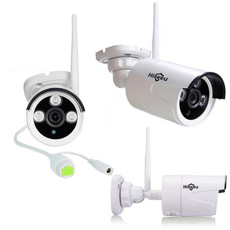 Kit Hiseeu 1080P Cctv Wireless 8Ch Nvr Outdoor Ir Night Vision Ip Ip Camera Camera Security Surveillance