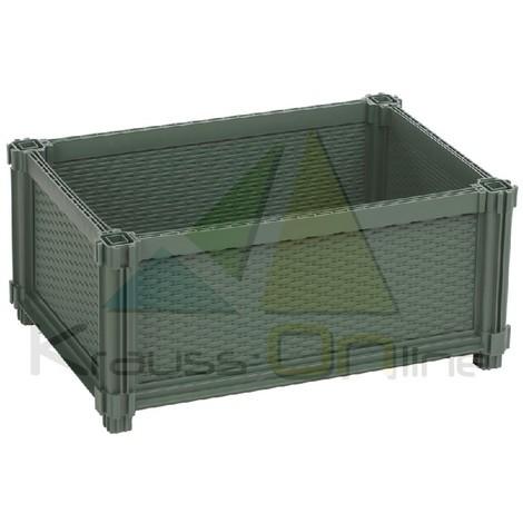 KIT HUERTO URBANO MODULAR plástico rectangular