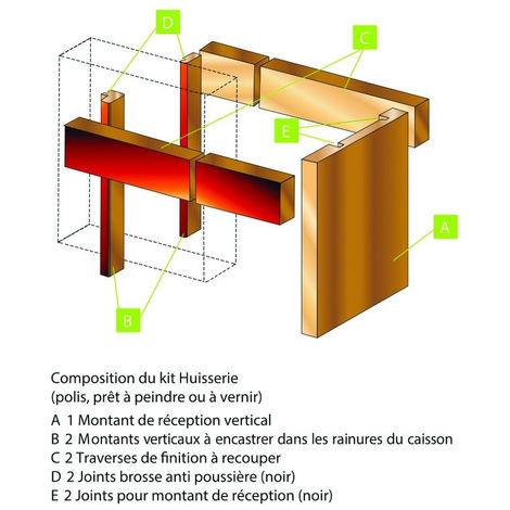 Kit huisserie MDF FIBROTUBI pour porte jusqu'à 1000 mm - 61421002