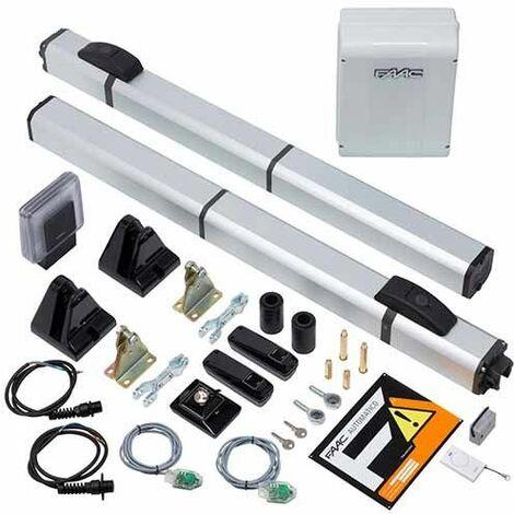 Kit HYBRID 450 FAAC Automatismes hydraulique pour portail battant 2M 24V SAFE 105683