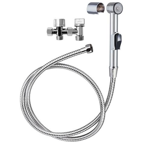 Kit hygiène douchette WC flexible robinet et support WIRQUIN