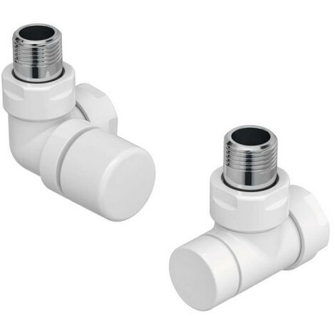 Kit I robinetterie BLANC manuelle thermostatisable équerre d'angle gauche - ACOVA 991531