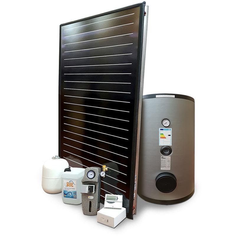 Detrazione fiscale 65/% o Conto Termico KIT Solare Termico a circolazione forzata da 300 litri per tetto a falda