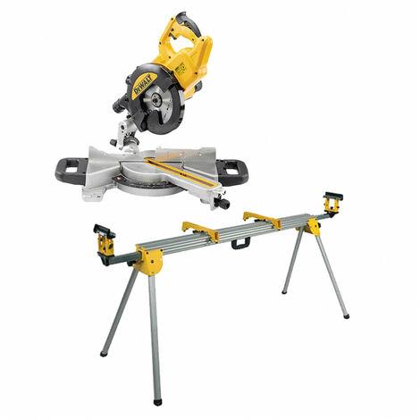 Kit Ingletadora Telescópica 1400W Ø216mm DWS774 + Banco de trabajo DE7023 Dewalt CPROF473