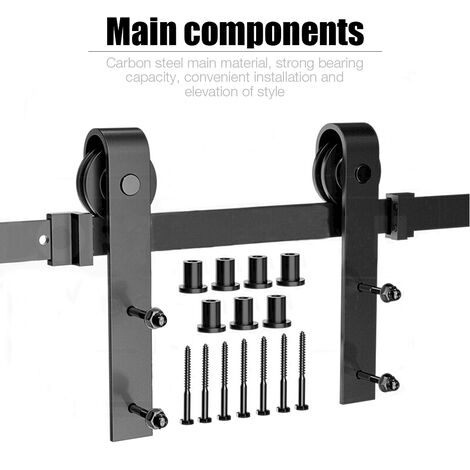 Kit Instalación Montaje | Puerta Corredera Kit || para Puerta Deslizante Puerta Corrediza Interior Riel Acero