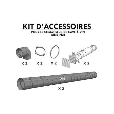kit installation pour climatiseur de cave WINEIN25