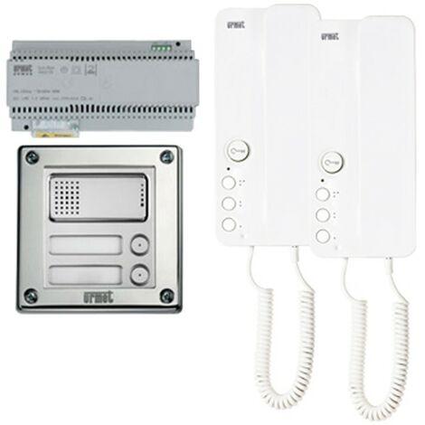 Kit interphone bifamiliale, Urmet Sinthesi Acier 1183/603