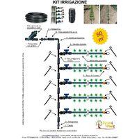 Kit irrigazione a goccia orto giardino modulare ampliabile completo 50 mq