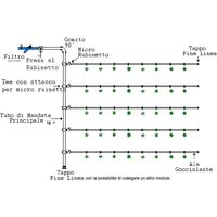 Kit irrigazione giardino goccia orto impianto completo modulare 50 mq ampliabile