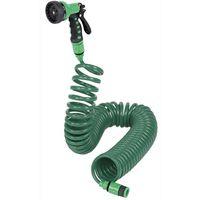 Kit Irrigazione Starter Irrigo Iris Nilo Tubo Spiralato 15mt+Irrigatori/Pistola