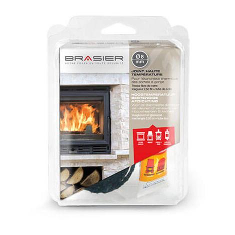 Kit joint étanche haute température plat + colle - 15mm