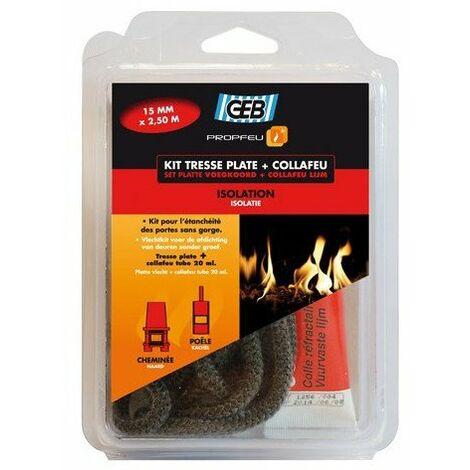 Kit Joint pour insert cheminée rond avec colle - 12mm OU 15mm