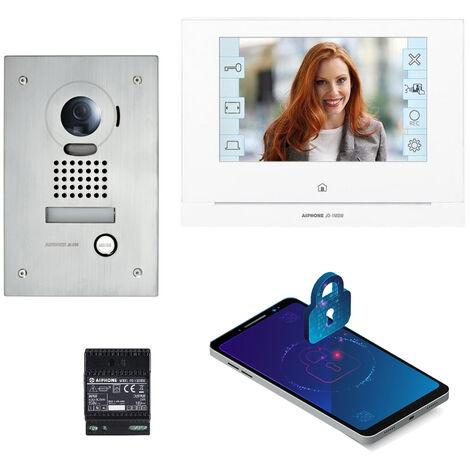 Kit JOS1VW vidéo platine encastrée avec moniteur écran 7 avec module WiFi intégré AIPHONE - AIPHONE