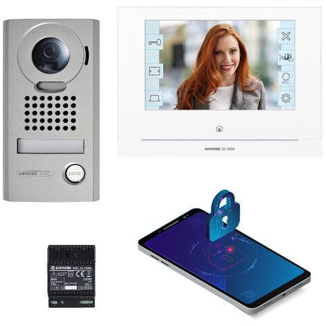 Kit JOS1VW vidéo platine saillie avec moniteur écran 7 avec module WiFi intégré AIPHONE - AIPHONE