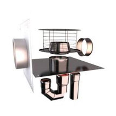 Kit jt montage C5 rénovation flexible inox O80 mm