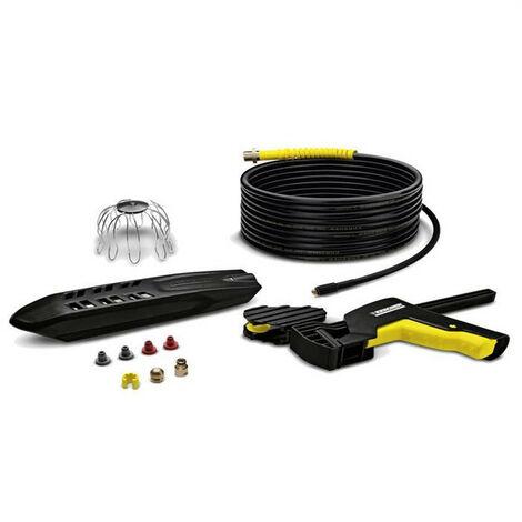 Kit KARCHER pour nettoyage canalisations/ gouttières + flexible 20m - 2.642-240.0