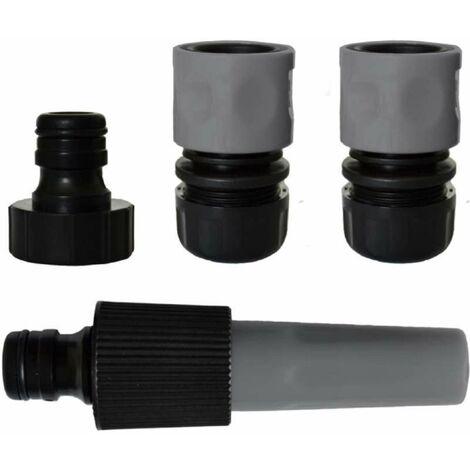 Kit lance d'arrosage avec raccords 19 mm et nez de robinet 26x34