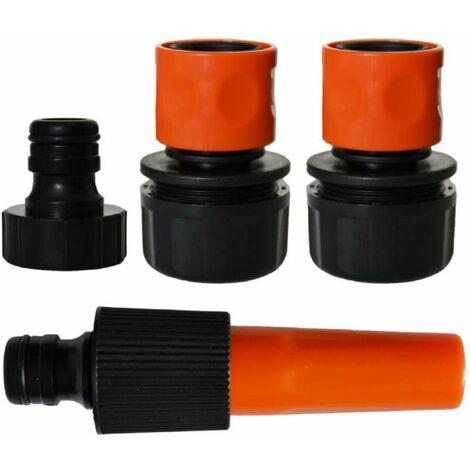 Kit lance d'arrosage avec raccords 25 mm et nez de robinet 26x34