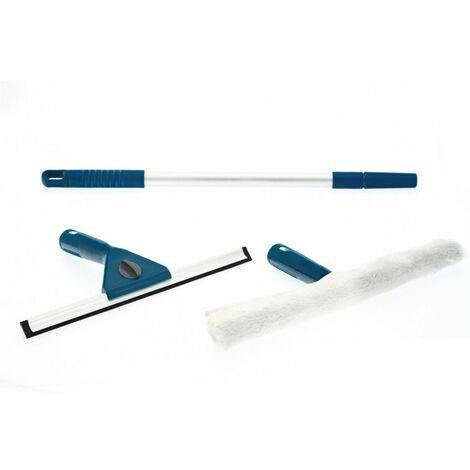 Kit lave vitres avec manche telescopique et housses éponge