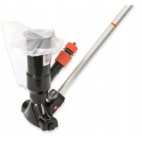 Kit Limpiafondos barredora venturi para minipiscinas con bolsa recogetodo. Incluye pértiga 5 tramos 1,20 mts