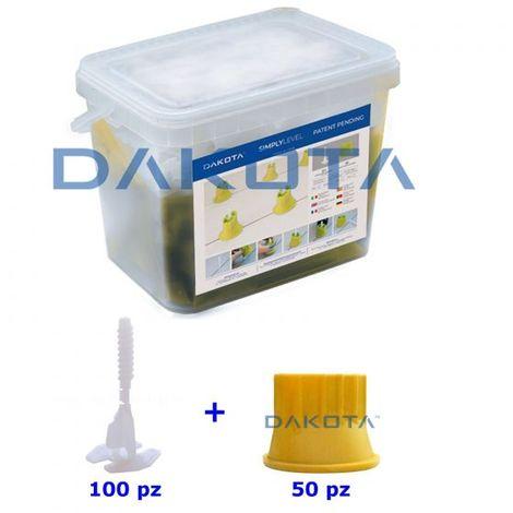 Kit Livellatori per piastrelle, distanziatori 100 viti + 50 cilindri 2 mm SIMPLY
