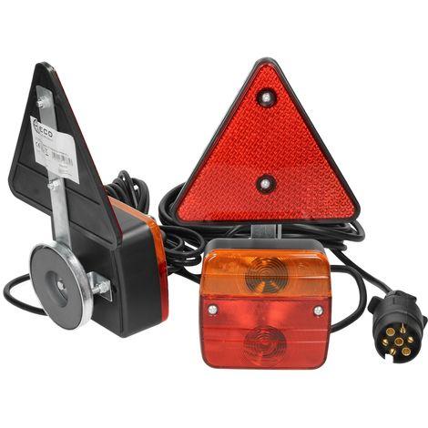 Kit luz trasera magnética bombillas para caravana remolque 12 V cable conexión