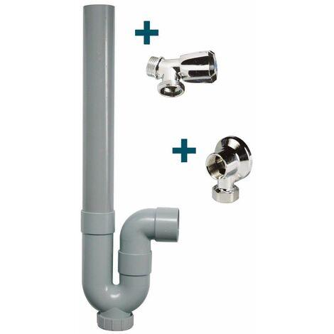 Kit machine à laver - Applique + robinet + siphon