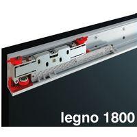 kit magic 2 per porta legno fino a cm. 180 scorrevole binario invisibile