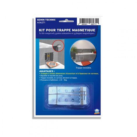 """main image of """"Kit trappe magnétique pour accès baignoire Semin - s'adapte à toute dimension de carrelage - pièces humides et salle de bain"""""""