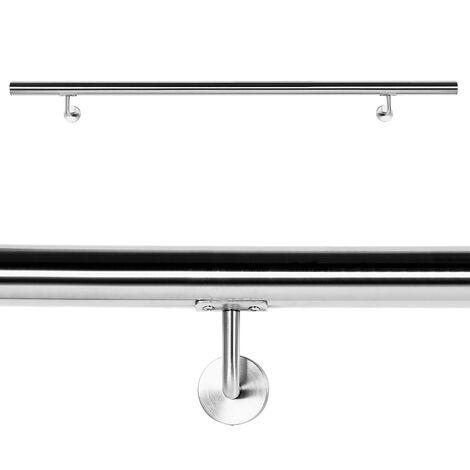 Kit Main courante Rambarde avec support mural 190 cm Escaliers Poignée Acier inoxydable V2A