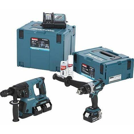 Kit Makita sans fils DDF458RME + DHR264Z, 3 batteries inclus