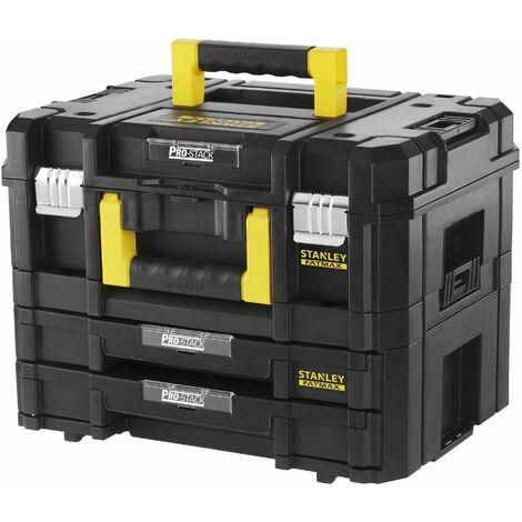 Kit Mallette + Mallette 2 tiroirs Tstak-Fatmax STANLEY 21,5L - 44 x 33,17 x 32,6 cm - FMST1-71981