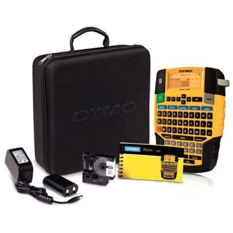 Kit mallette Rhino 4200, 1 ruban N/B 12mm, 1 batterie rechargeable + adaptateur