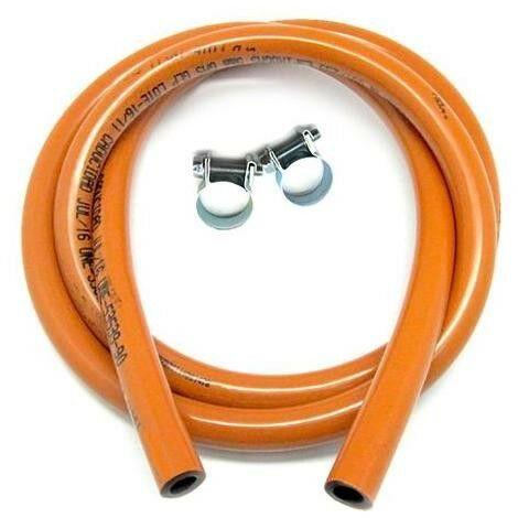 Kit Manguera Butano   Manguera 1,5 metros + 2 abrazaderas   Con instrucciones de montaje