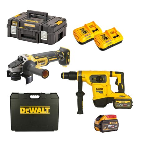 Kit Martillo + Amoladora Dewalt Flexvolt 54V CPROF400