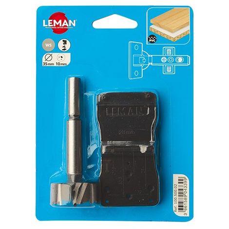 Kit mèche charnière invisible D. 35 mm - 100.500.02 - Leman - -