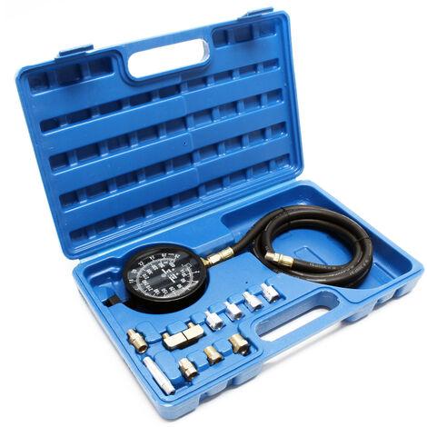 Kit Mesure de pression d'huile Manomètre Jauge Testeur Appareil Contrôle de pression 0-21 bars
