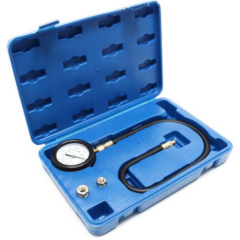 Kit Mesure de pression d'huile Manomètre Jauge Testeur Appareil Contrôle de pression 0-7 bars