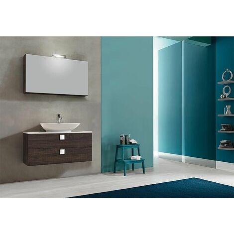 Kit meuble de salle de bain ELION série MBL, chene foncé Decor, 2 tiroirs