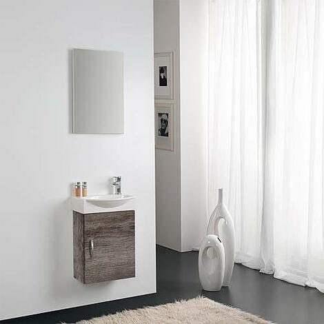 Kit meuble lave-mains Mini 42 couleur: chene chateau